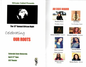 Africa Night Program and Executive Board
